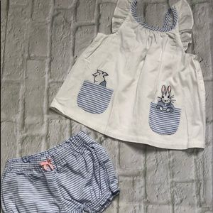 Gymboree two-piece set / top and bloomers (shorts)